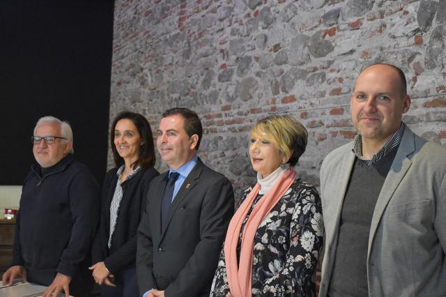 Miembros del PSOE de Talaver durante el balance de la gestión municipal de Talavera en 2017