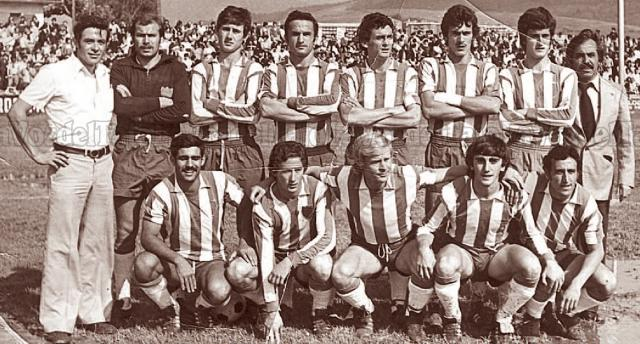 Una formación del Talavera CF de aquella época