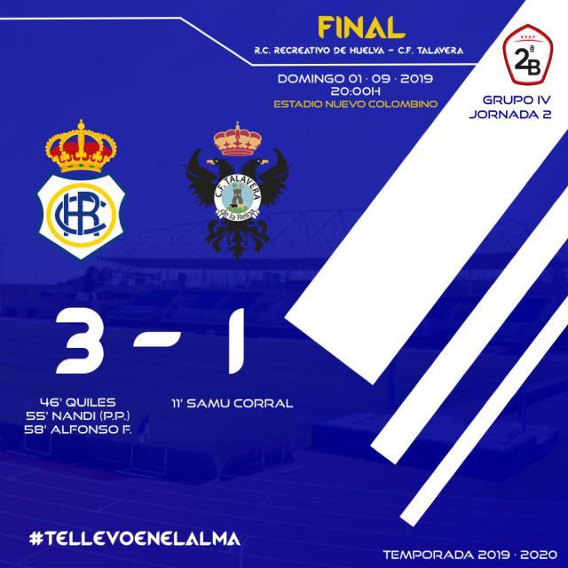 El CF Talavera se desinfla en la segunda mitad