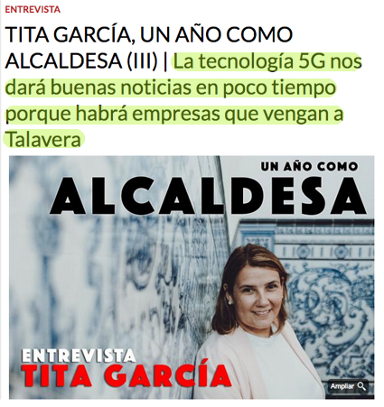TALAVERA | Tita García anuncia una 'buena noticia' de Page y empresas tecnológicas para la ciudad