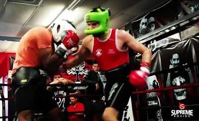 El talaverano Adán Trenado, en el Torneo Spanish Legends de boxeo