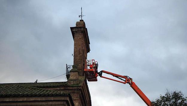 El permiso para retirar los nidos de cigüeña de la Basílica del Prado expiró el 4 de febrero