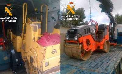 Dos detenidos por robar maquinaria de construcción por valor de 65.000 €
