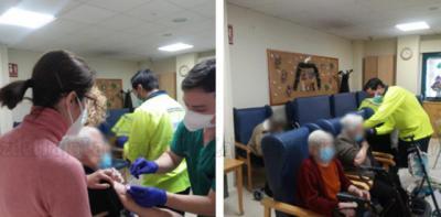 FOTOS | Casablanca Talavera ha vacunado hoy al 100% de sus residentes y trabajadores