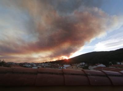 INCENDIO DEL JERTE | Se activa la UME desde Madrid para ayudar en las labores de extinción (FOTOS)