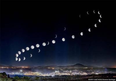 NUESTRA GENTE | Una foto de la luna y Toledo que cautiva a todos