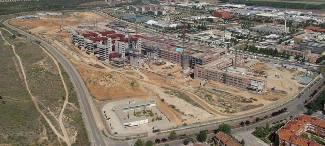 Vista aérea de las obras del nuevo Hospital de Toledo