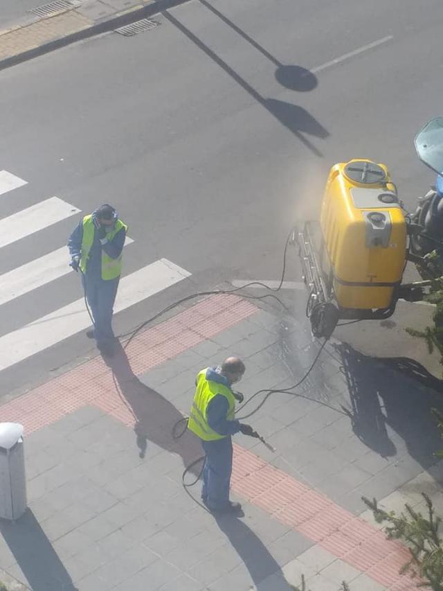 Fumigación de calles