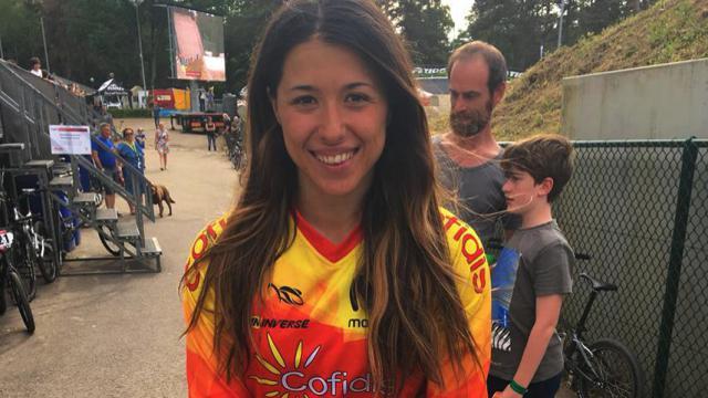 La talaverana Verónica García, del club BMX Los Pinos, lista para el Mundial de Supercross