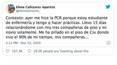 VIRAL   Elena Cañizares, la enfermera de CLM con Covid a la que sus compañeras quieren echar de su piso