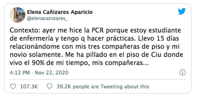 VIRAL | Elena Cañizares, la enfermera de CLM con Covid a la que sus compañeras quieren echar de su piso