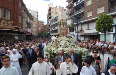 Aviso de cortes de tráfico por la procesión del Corpus Christi en Talavera