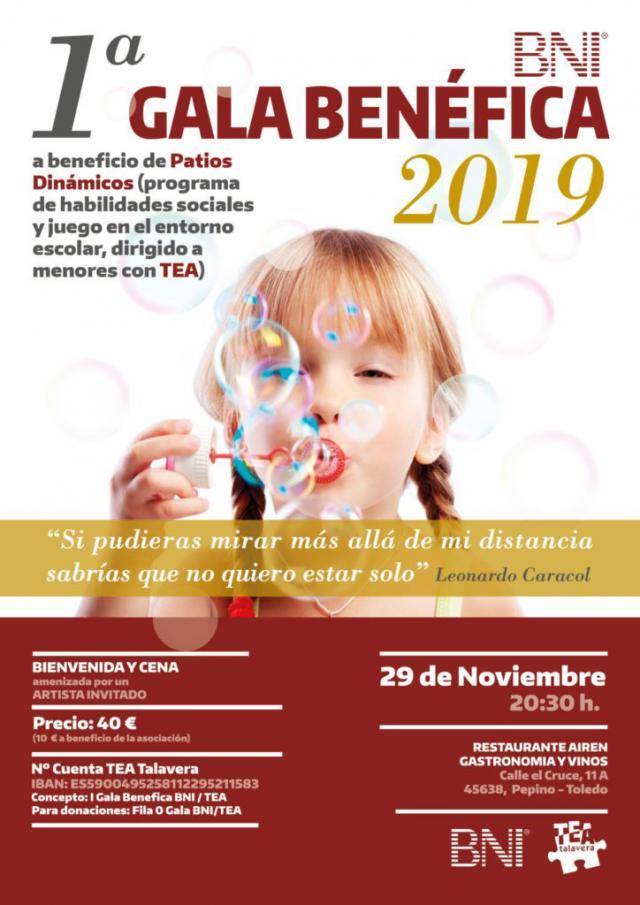 I Gala Benéfica de la Fundación BNI a beneficio de la Asociación TEA Talavera