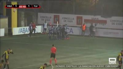 Complicado partido para el CF Talavera que termina con un resultado de 1-1