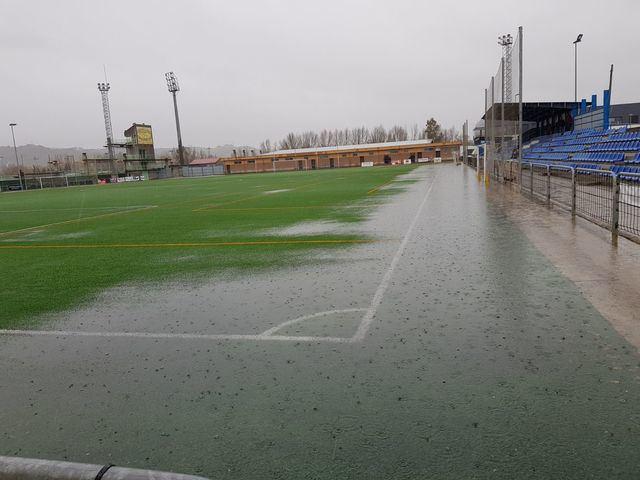 La lluvia vuelve a suspender los partidos del fútbol en Talavera