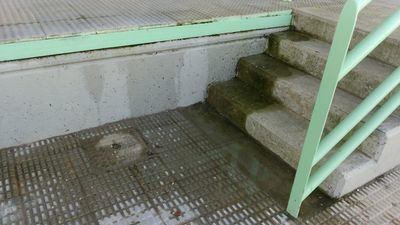 El agua vuelve a ser la causante de la desastrosa situación del estadio talaverano Diego Mateo Zarra