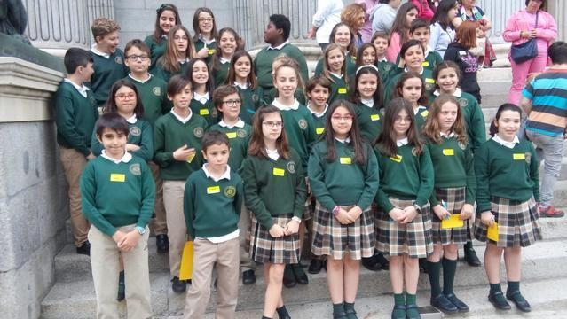 Los alumnos del colegio Ruiz de Luna 'combaten' el acoso escolar en el Congreso de los Diputados