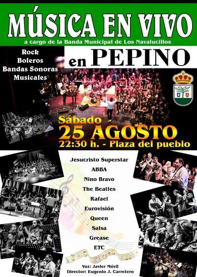 La Banda Municipal de Los Navalucillos deleitará al público pepinero durante su próximo concierto