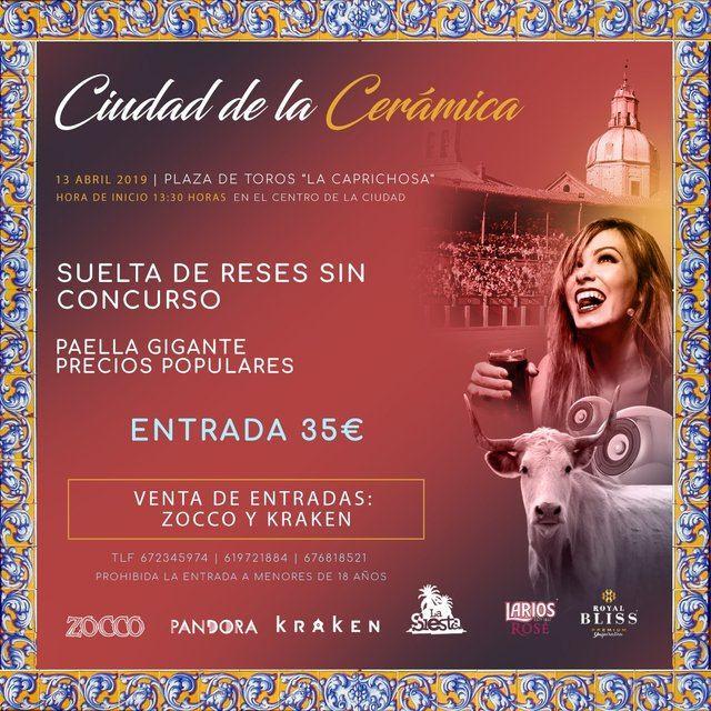 """Este sábado disfruta de la primera capea """"Ciudad de la Cerámica"""" en La Caprichosa"""