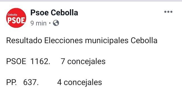Silvia Díaz continúa gobernando en Cebolla