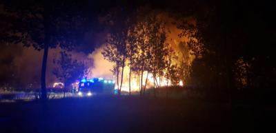 Así ardió el embalse de Cazalegas en la noche del martes (FOTOS)