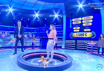 Una joven talaverana se lleva 9.250 euros en '¡Ahora caigo!'