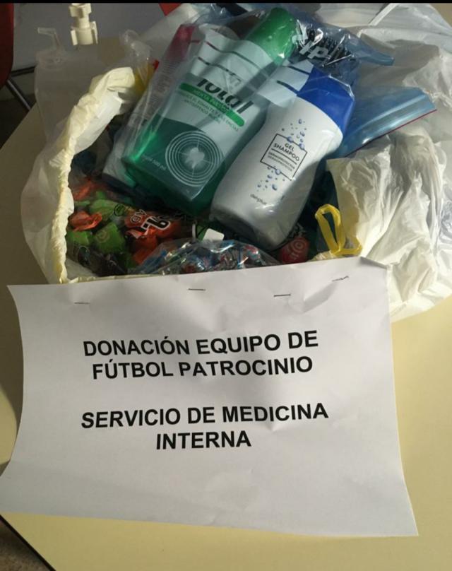 TALAVERA | El Club Deportivo Escuela Patrocinio entrega material para los sanitarios