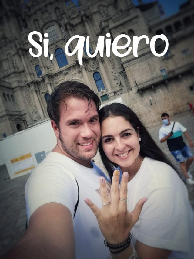 VIDEO | ¿Quieres emocionarte? León Martínez, de Talavera a Santiago para pedirle matrimonio a su novia