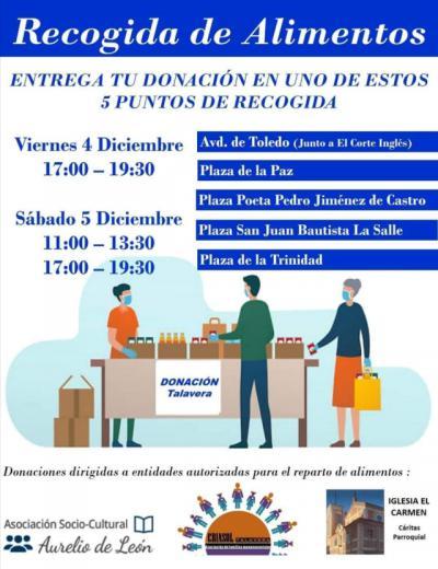 RECOGIDA DE ALIMENTOS | Entrega tu donación los días 4 y 5 de diciembre en los puntos seleccionados