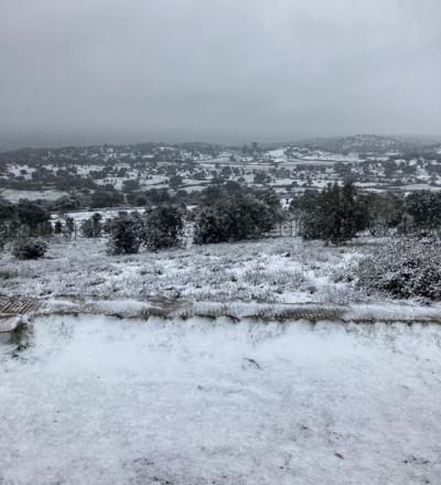 VÍDEO Y FOTOS | Así se ve la Sierra de San Vicente nevada desde la Atalaya de Segurilla