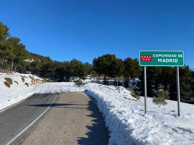 FILOMENA   Así se diferencian las carreteras de CLM con las de Madrid