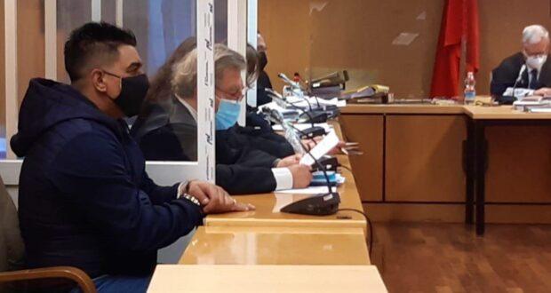 El acusado durante la celebración del juicio