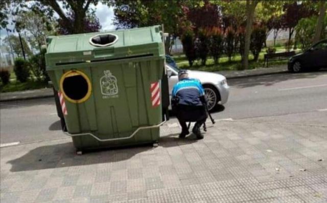 Esta foto no es en Talavera... pero sí hay controles