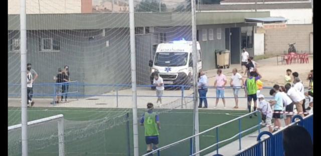 Susto en el partido del Élite Talavera contra La Roda