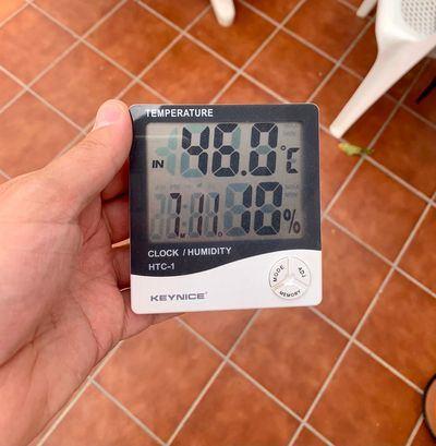Se registran temperaturas históricas en el Barrio de Santa María