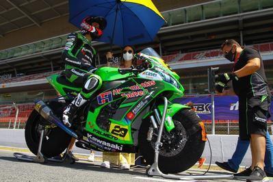 Juanjo Núñez estrena moto en el circuito de Barcelona