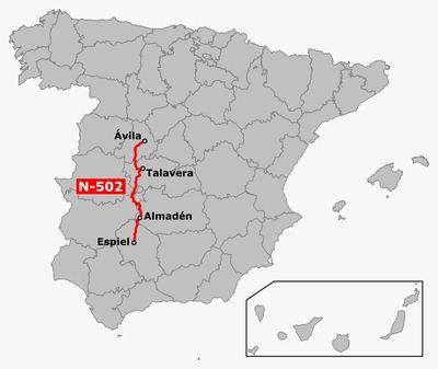 La N-502, eje principal de la comarca de Talavera, recibe seis millones para rehabilitación