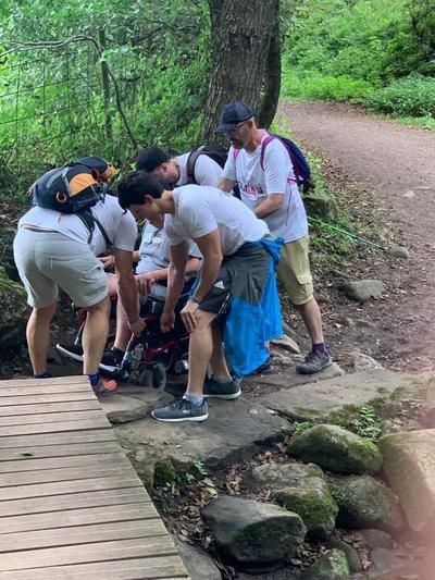 Arranca el Camino de Santiago para los peregrinos talaveranos contra la ELA