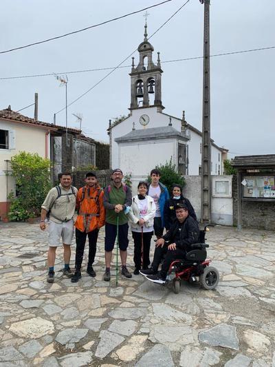 Los peregrinos talaveranos contra la ELA ya están en Arzúa