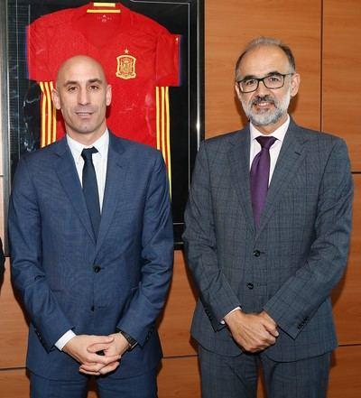 José Fernando Hidalgo con Luis Rubiales.