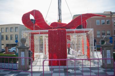 TALAVERA | El 'gran regalo navideño' de luz y sonido ya preside la Plaza del Pan