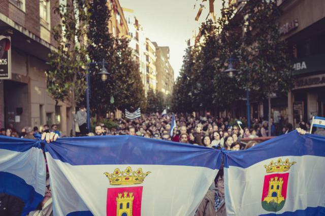 Manifestación en Talavera, el 11 de noviembre de 2017 (Foto: Valeria Cassina)