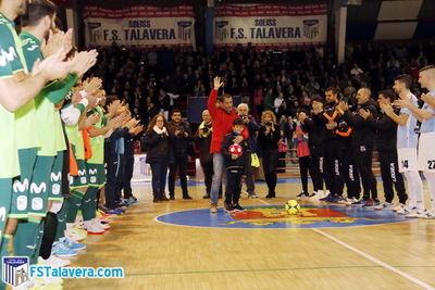 El Soliss FS Talavera le rindió honores a Justo Cáceres
