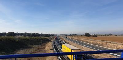 Retenciones de hasta 10 kilómetros en la A-5 (fotos)