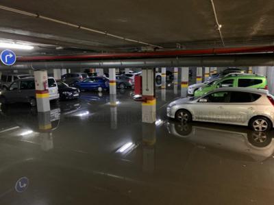 VÍDEO Y FOTOS | Una tormenta inunda el garaje del Hospital de Talavera