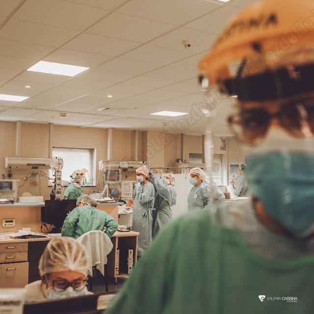 Profesionales sanitario del Hospital de Talavera | Foto: Valeria Cassina