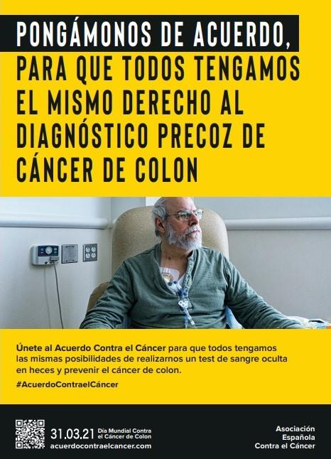 CÁNCER DE COLON | La AECC señala la inequidad en los programas de cribado y piden que se mantengan a pesar de la pandemia