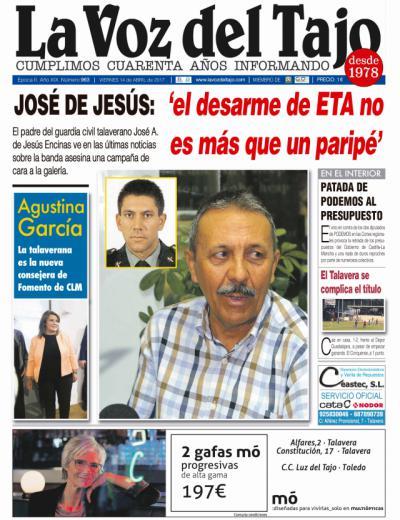 Portada abril | Agustina García, nueva consejera de Fomento -y la entrevista a José de Jesús-