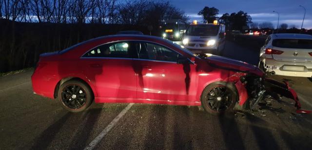 Dos accidentes de tráfico en el polígono de Cazalegas