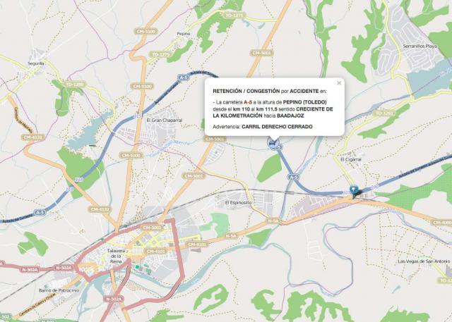 ÚLTIMA HORA | Accidente múltiple en la A-5, cerca de Talavera de la Reina